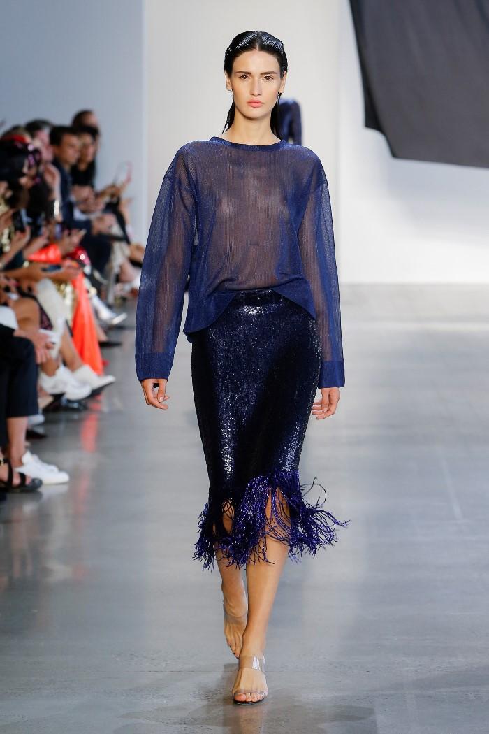 Модная синяя юбка Sally LaPointe