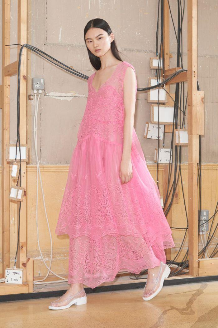 Легкие кружевные розовые платья Stella McCartney