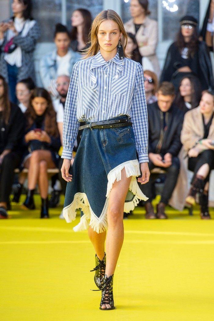 Модная синяя юбка Victoria Tomas