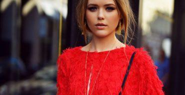 Модное красное платье 2019