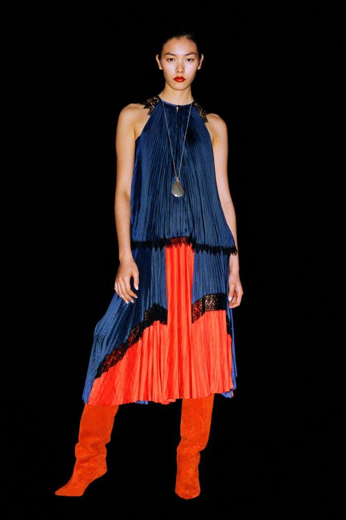Модное оранжевое платье Barbara Bui