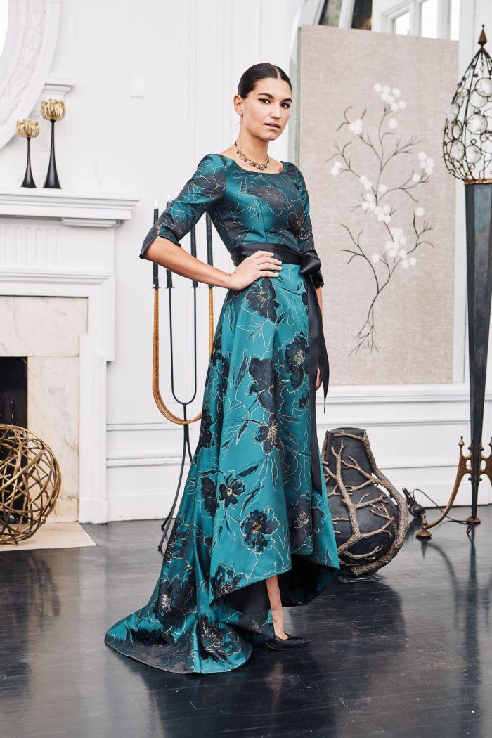 Вечернее бирюзовое платье Barbara Tfank
