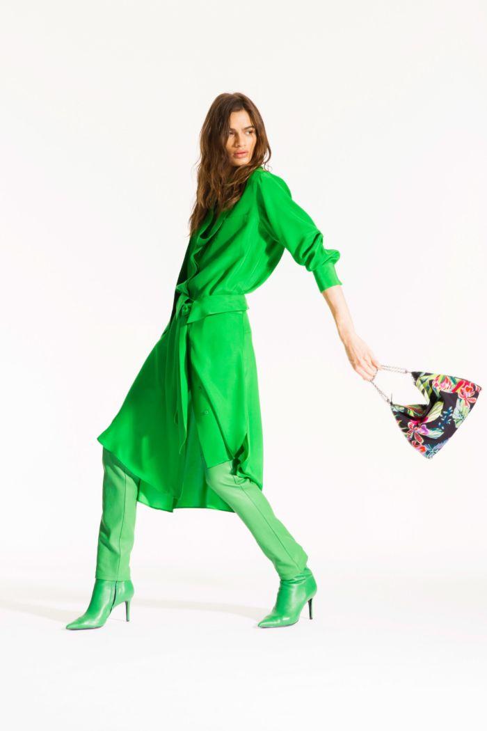 Модное зеленое платье Barbara Bui