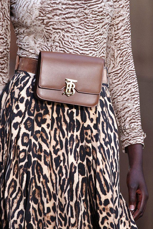 Модная поясная сумка из кожи Burberry