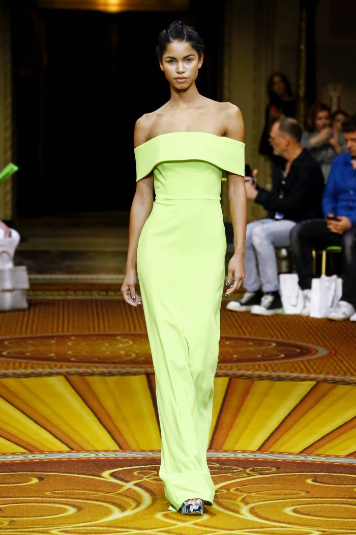 Вечернее зеленое платье Christian Siriano