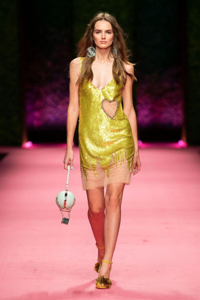 Желтое платье Elisabetta Franchi