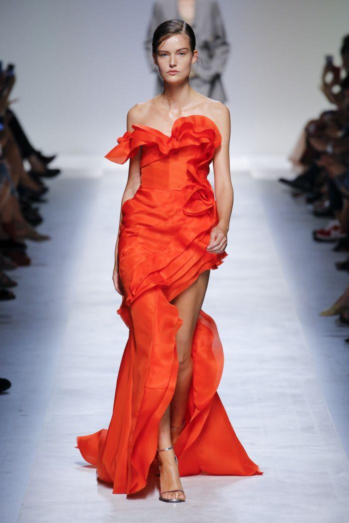 Вечернее розовое платье Ermanno Scervino