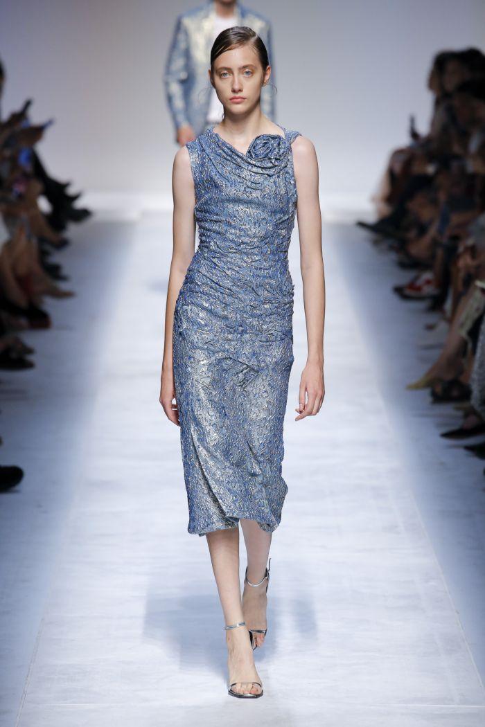 Голубое платье Ermanno Scervino