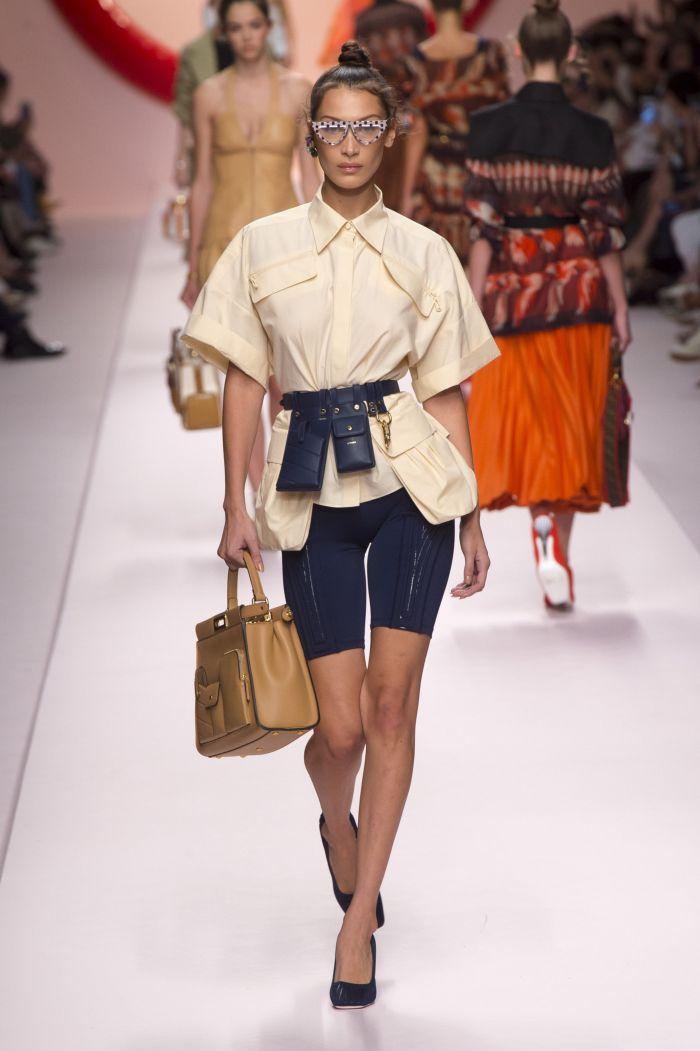 Модная поясная сумка с рубашкой Fendi