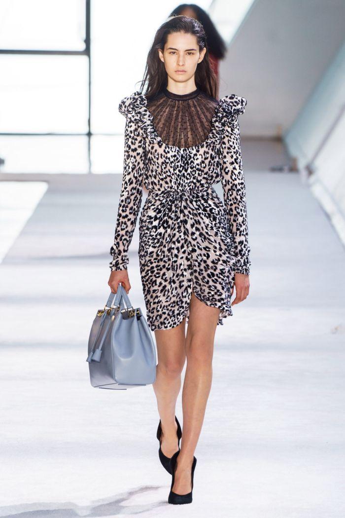 Модное короткое леопардовое платье Giambattista Valli
