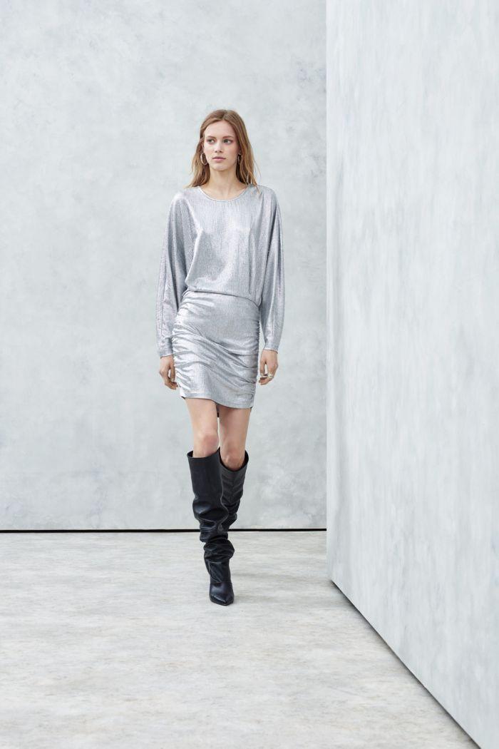 Короткое серое платье IRO