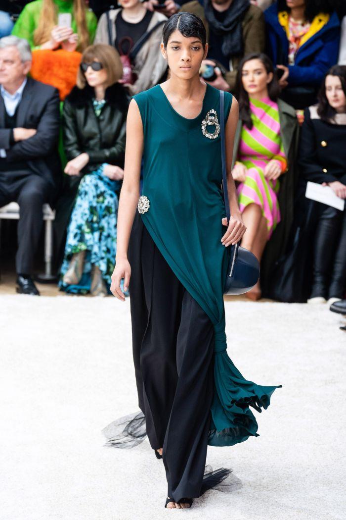 Модное удлиненное платье-туника с разрезами по бокам JW Anderson