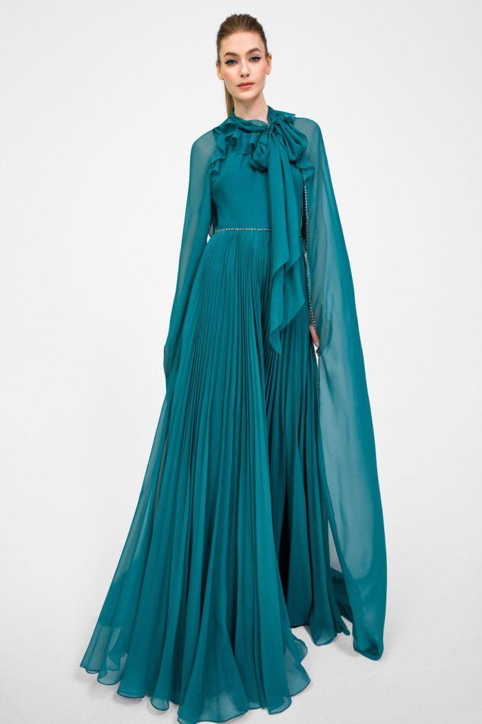 Вечернее бирюзовое платье Jenny Packham