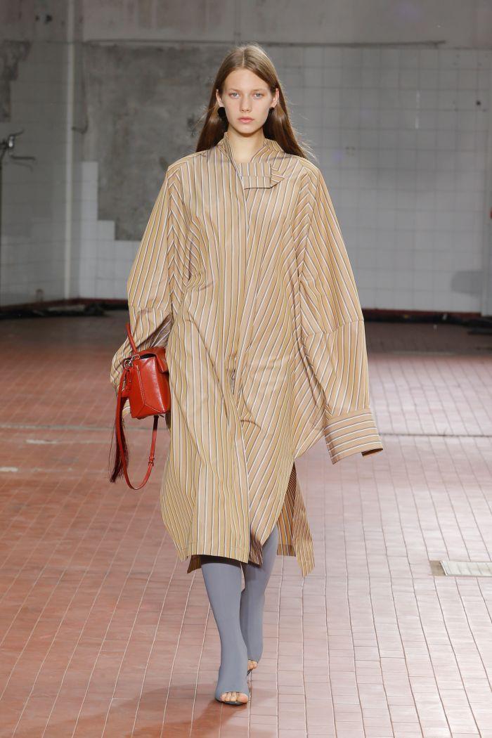 Бежевое платье-рубашка Jil Sander