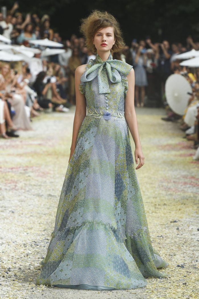 Серо-зеленое платье Luisa Beccaria