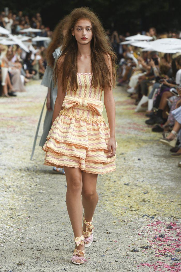 Желто-розовое платье Luisa Beccaria