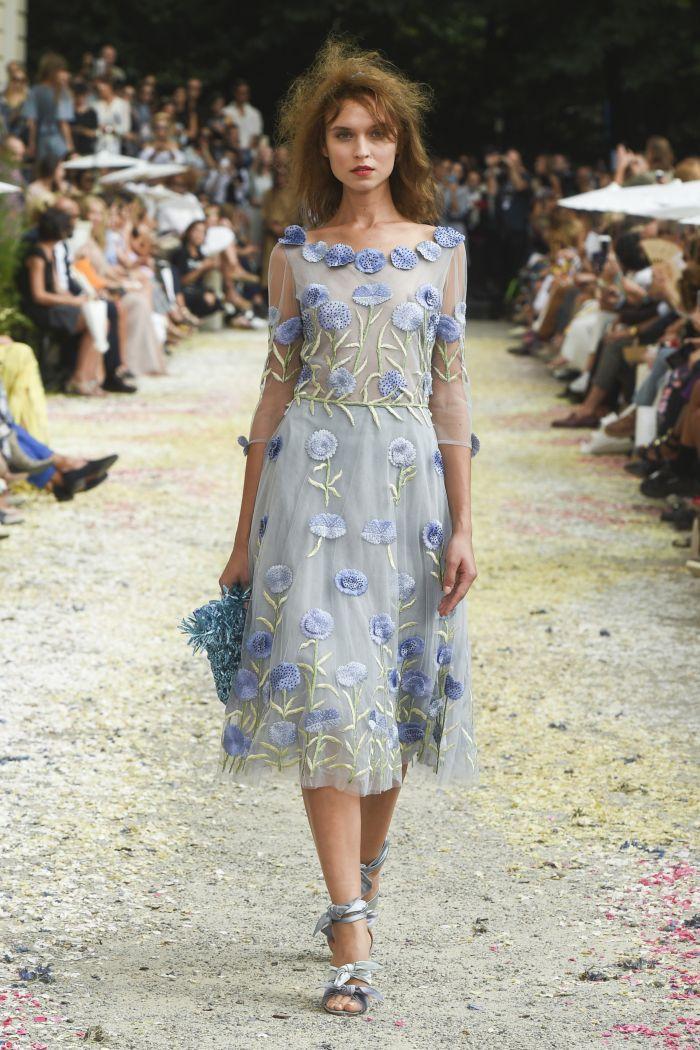 Голубое платье с цветами Luisa Beccaria