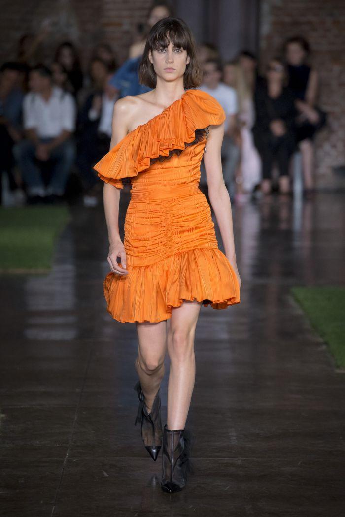 Модное оранжевое платье MSGM