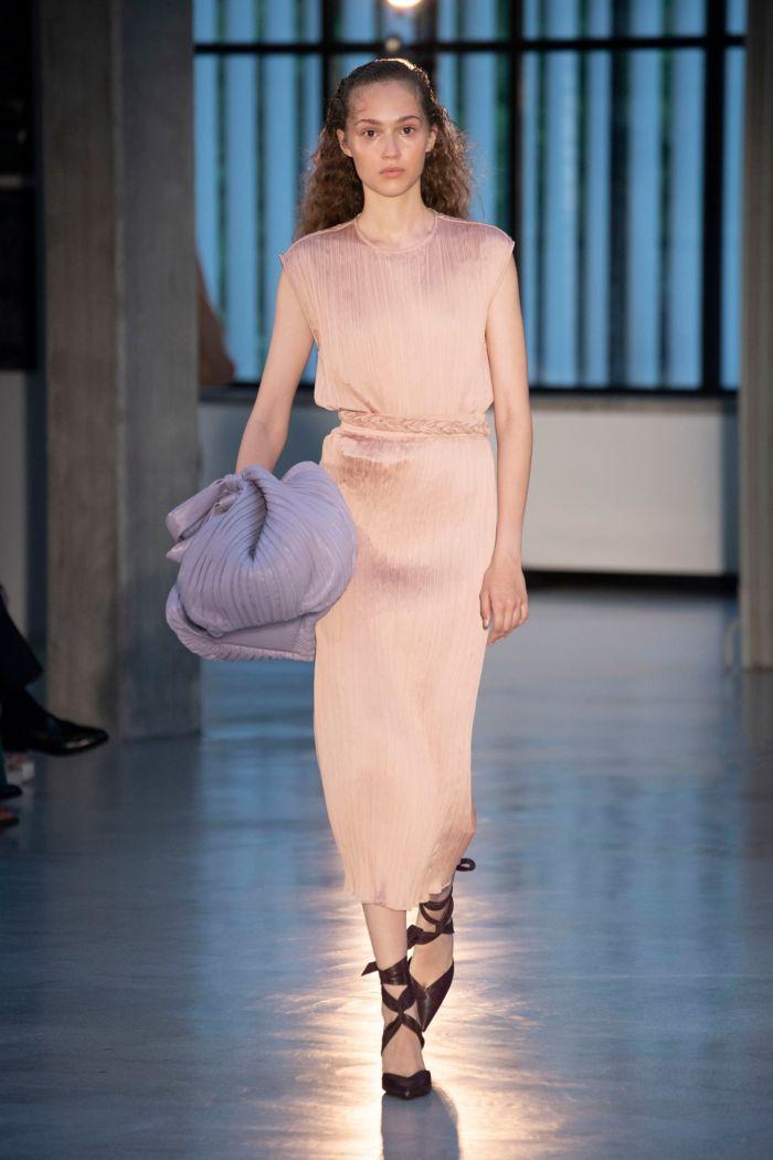 Бежево-розовое платье Max Mara