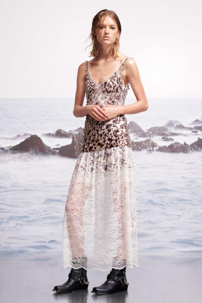 Летнее платье с леопардовым принтом Paco Rabanne