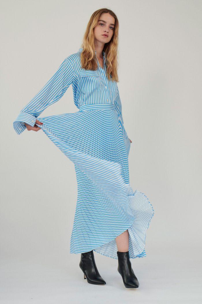 Модное голубое платье-рубашка Paul & Joe