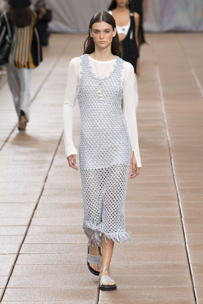 Модное серое платье Phillip Lim