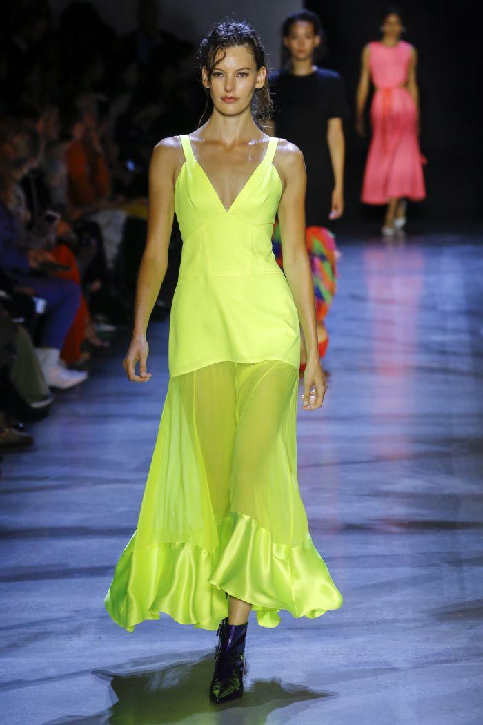 Модное зеленое платье Prabal Gurung