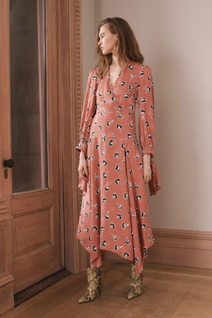 Коралловое платье Rebecca Taylor