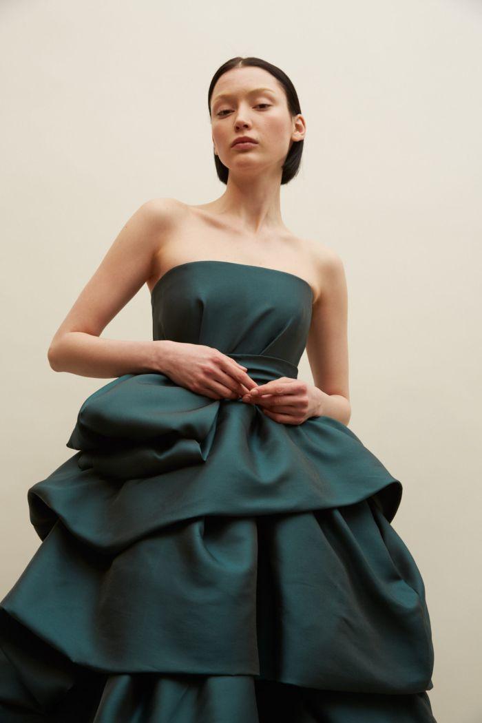 Свадебное бирюзовое платье Reem Acra