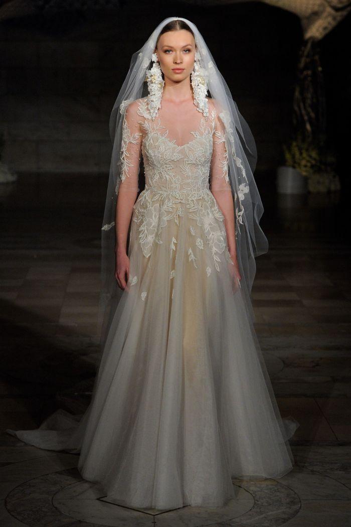 Зеленое свадебное платье Reem Acra