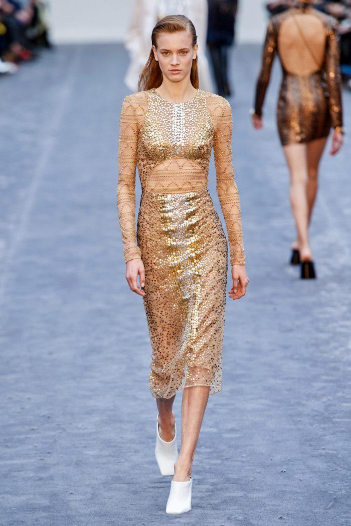 Бежево-золотое платье Roberto Cavalli