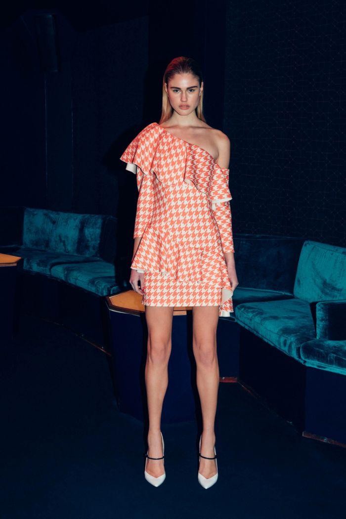 Модное коралловое  платье Sara Battaglia