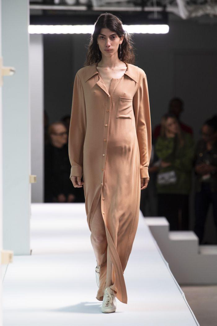 Бежевое платье-рубашка Sies Marjan