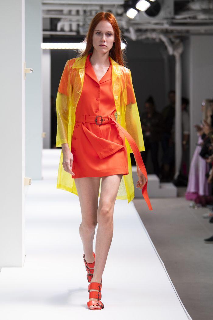 С чем носить оранжевое платье. Образ из новой коллекции Sies Marjan