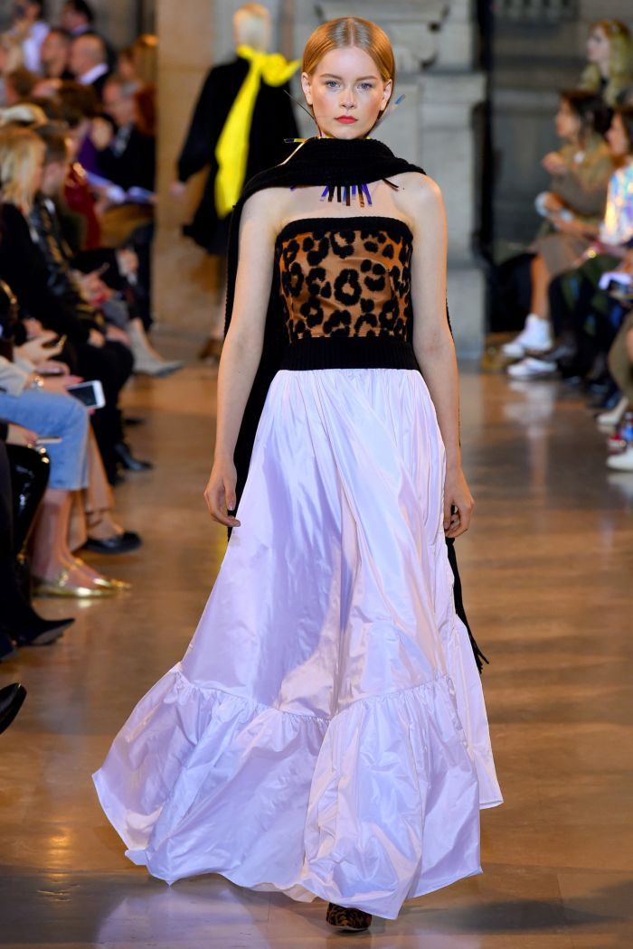 Модное леопардовое платье Talbot Runhof