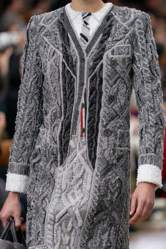 Модное серое платье Thom Browne