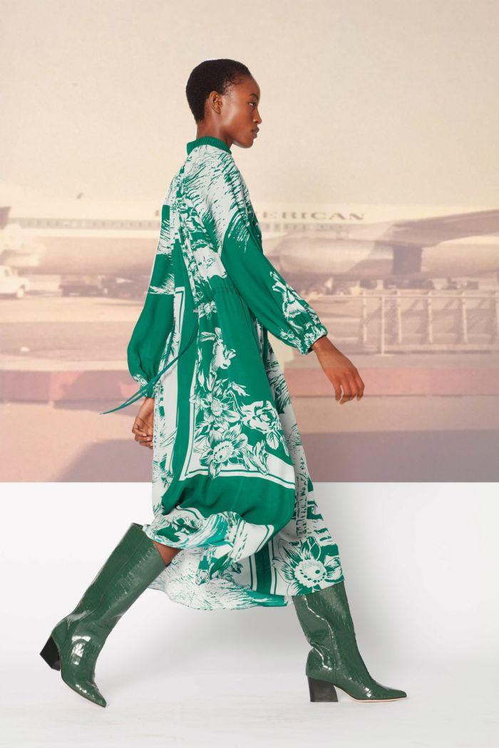 Модное зеленое платье Tibi