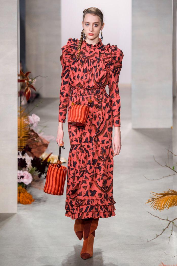 Модное коралловое платье Ulla Johnson