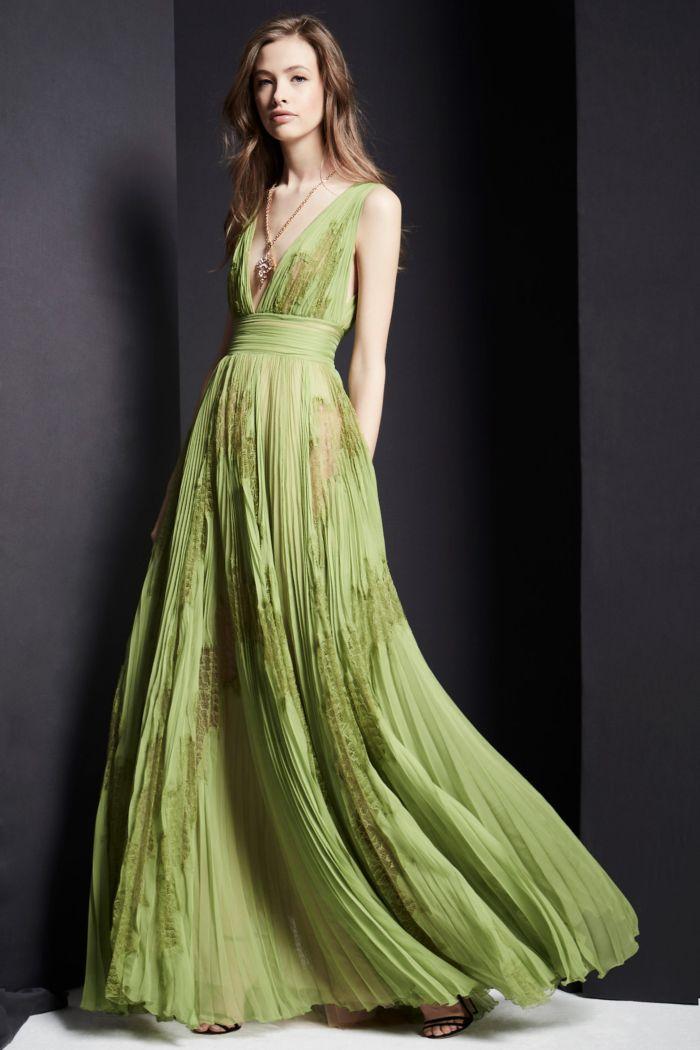 Зеленое вечернее платье Zuhair Murad
