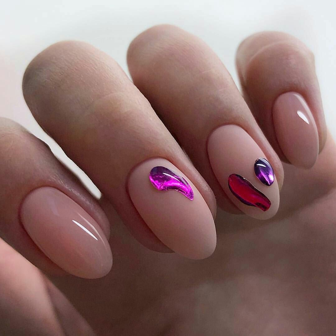 Новинка дизайна ногтей - жидкий металл