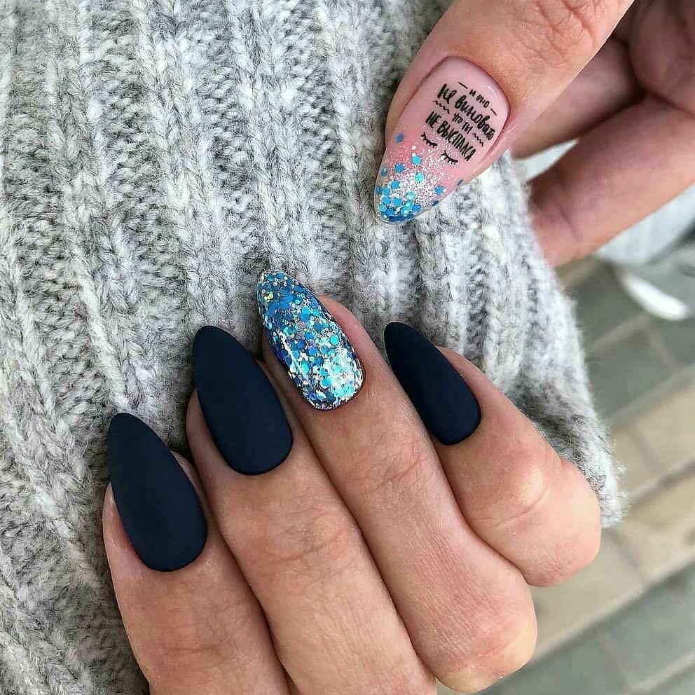 Новинка дизайна ногтей - наклейки с надписями