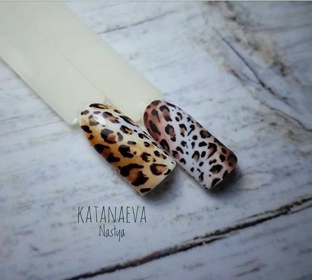 Новинка дизайна ногтей - леопард