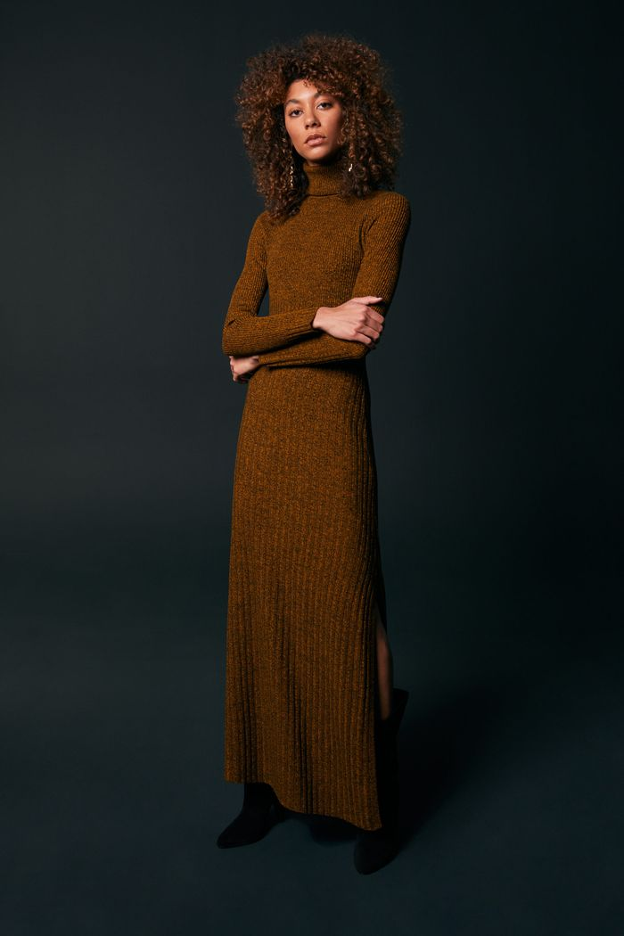 Длинное коричневое платье A.L.C.
