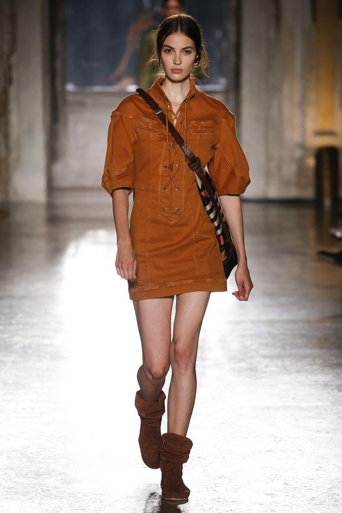 Джинсовое платье-рубашка Alberta Ferretti