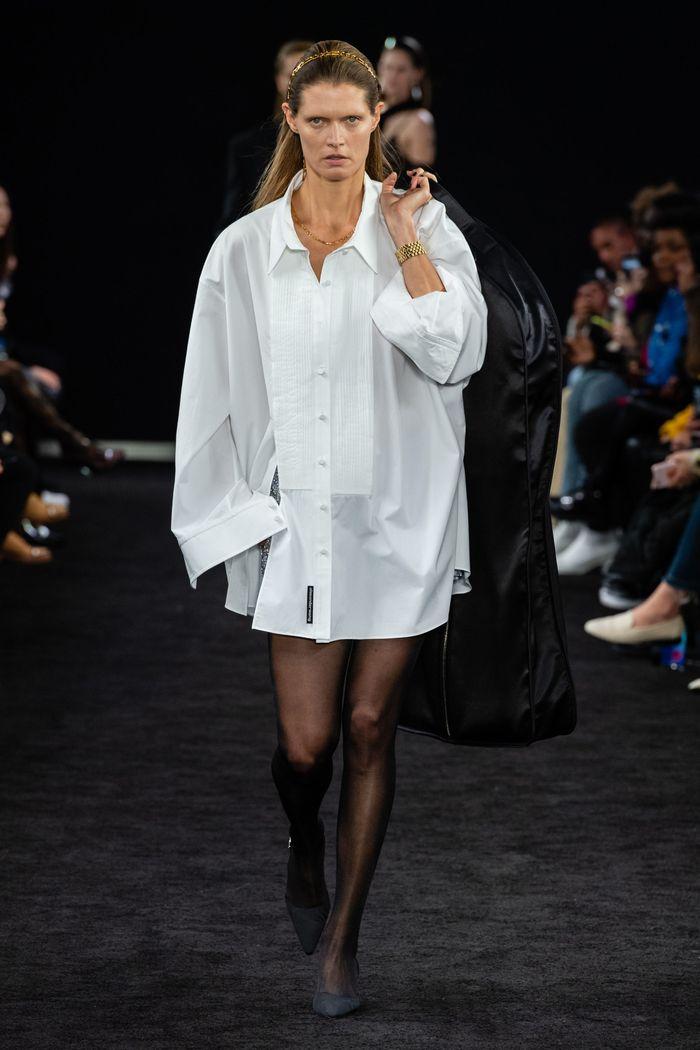 Белое платье-рубашка Alexander Wang