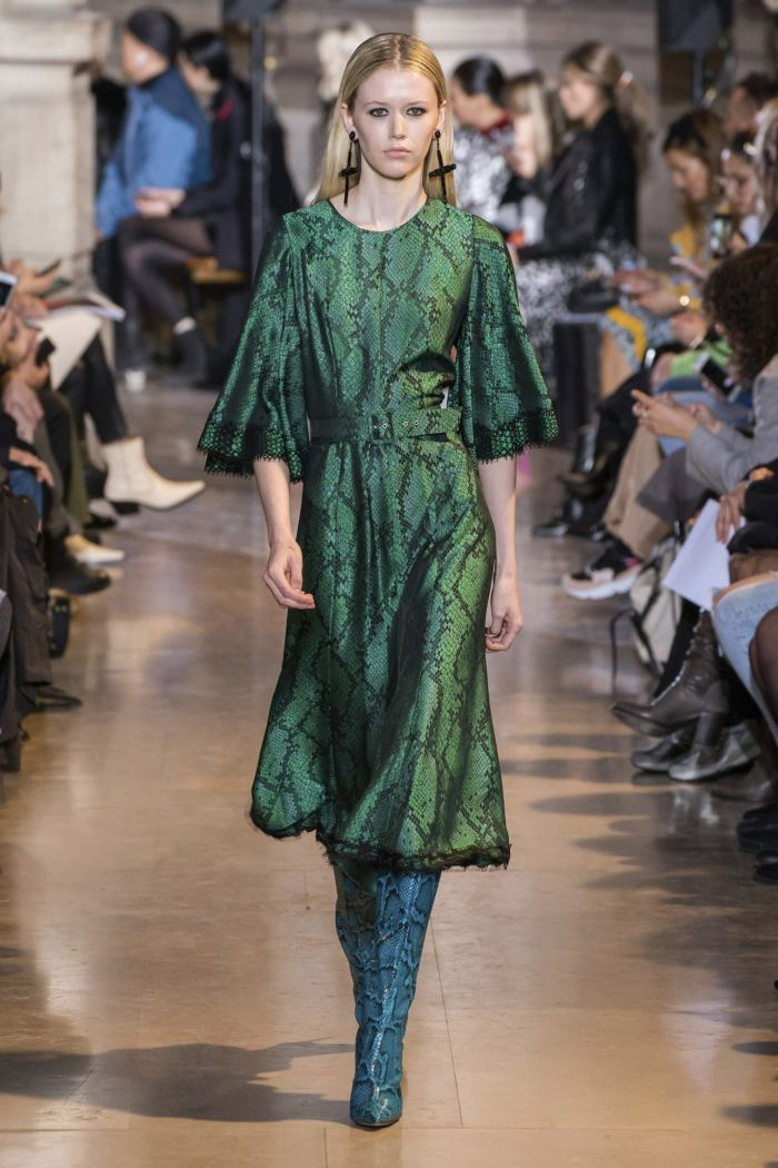 Модное изумрудное платье Andrew Gn