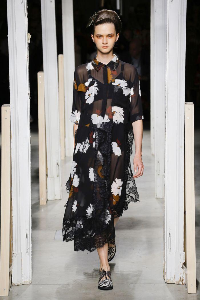 Платье-рубашка с цветами Antonio Marras