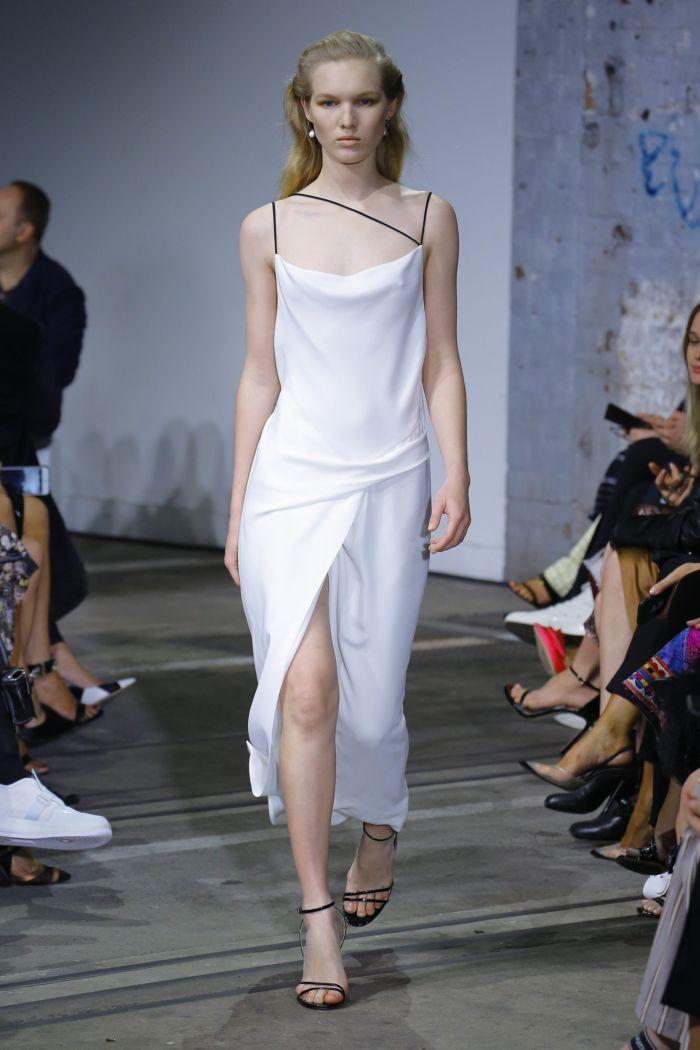Белое платье-комбинация Bianca Spender