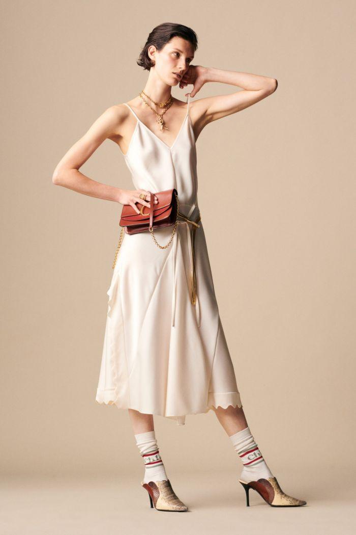С чем носить платье-комбинацию Chloé
