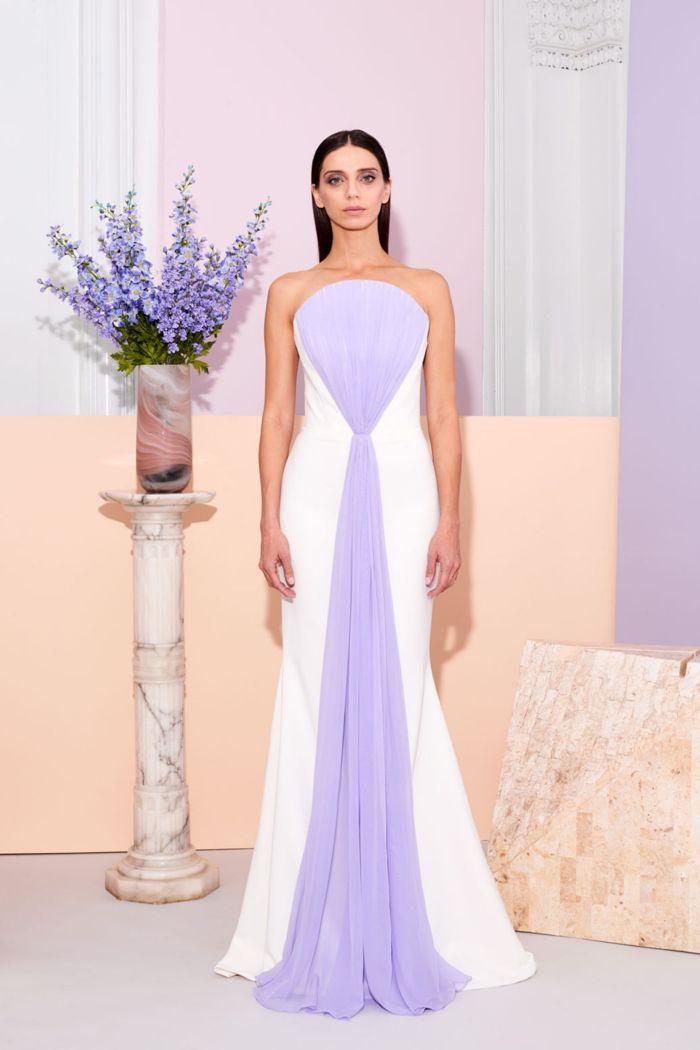 Сиреневое свадебное платье Christian Siriano